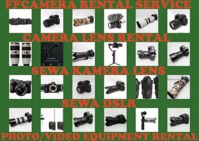 Sewa Canon, nikon, Sony, DJI Camera Lens Rental