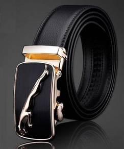Jaguar Genuine Cow Leather Auto-Lock Men's Belt