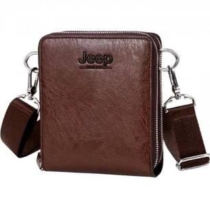 Jeep Genuine Leather Men's Sling Bag