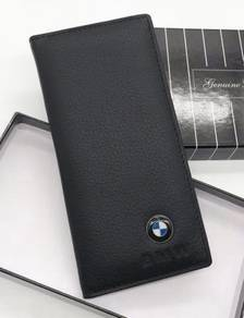 BMW Genuine Cow Leather Men's Long Wallet