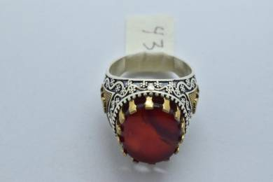 Original Yemeni Akik Ring For Men Jewelry 43