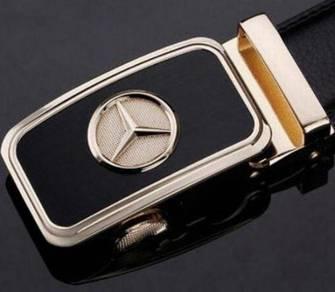 Mercedes Genuine Cow Leather Auto-Lock Men's Belt