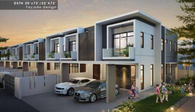 New Link House at Sutera Utama For Sale
