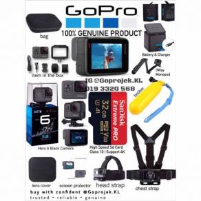 Genuine gopro hero 6 black complete package travel