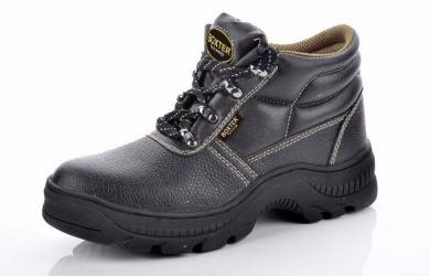 Black Nitrite Rubber Sole Midcut Safety Shoes