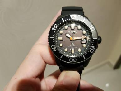Seiko black series limited edition solar