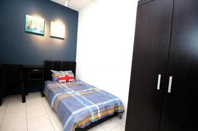 With Sofa Single Room Palm Spring Condo, Kota Damansara Free Utility