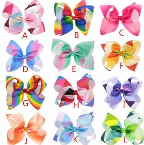 Jojo Siwa Large Rainbow Ribbon Hair Bow