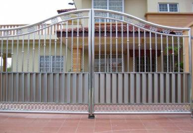 Stainless Steel w aluminium Gate w auto system