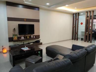 Taman Perling Jalan Layang Double Storey Terrace Renovated 24x70