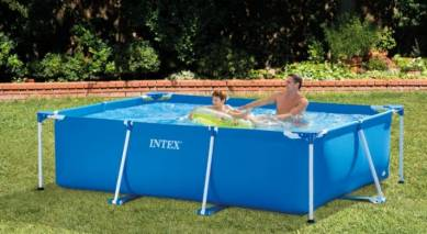 INTEX Rectangular Frame Pool 10ft x 7ft and 29inch