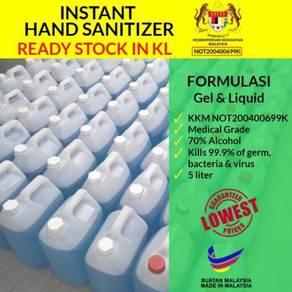 5 Liter Sanitizer Medical Gred Ready Stock