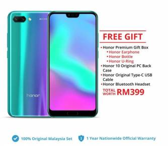 HONOR 10 -(LATEST MODEL)ORIGINAL set by HONOR Msia