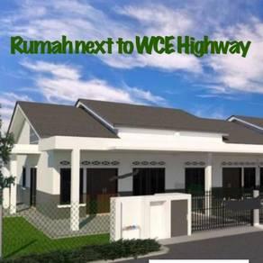 Shah Alam Rumah teras satu tingkat next to WCE Highway