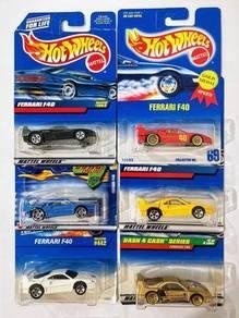 Hot Wheels Ferrari F40 (lot of 6)