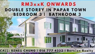 Papar Town | Double Storey House | 3 Bed 3 Bath | HOC20 | 100% WORTH
