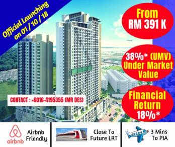 Bayan Lepas New Project, For Homestay used, Enjoy 6% Income a year!