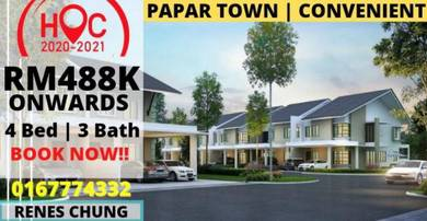 Papar Town | Double Storey Terrace | 4 Bed 3 Bath | 2021 OC THIS YEAR