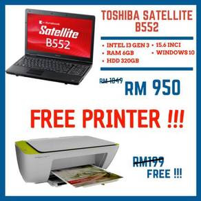 Laptop toshiba Ram 6GB Free printer