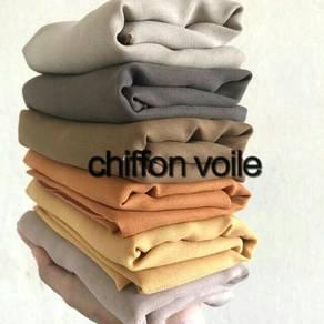 Borong bawal chiffon voile bawal cotton voile