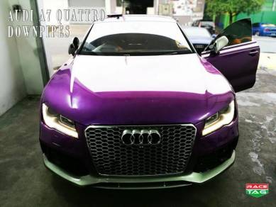 Audi a7 quattro custom made catless down pipes