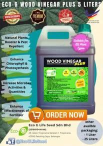 100% Cuka Kayu Wood Vinegar + Boron, Mg & Sulfur