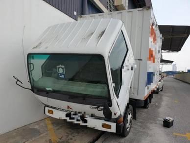 1994/95 Mitsubishi fuso 3ton corrugated box 5000kg