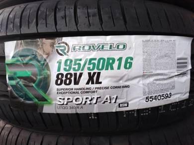 195/50/16 Rovelo Sport A1 Tyre Tayar