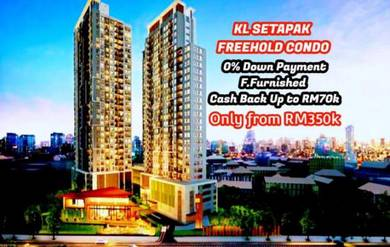 Setapak 0 Downpayment Fully Furnished CASHBACK 70K Renovate ID Concept