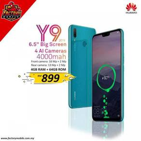 Huawei Y9 2019 [ 4+64GB ] new + free Gift