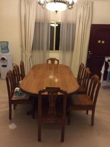 Teak Dining Table with 8 chairs