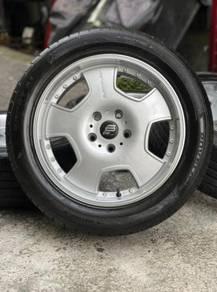 Blackfleet 17 inch sports rim Exora tyre 70%