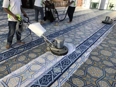 Cuci Karpet Masjid Surau Hotel Dewan Pejabat