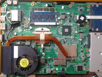 Cuci Fan Laptop, Mboard & Tukar Thermal Paste