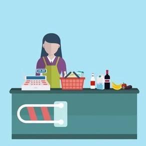 Juruwang / cashier untuk canteen kilang