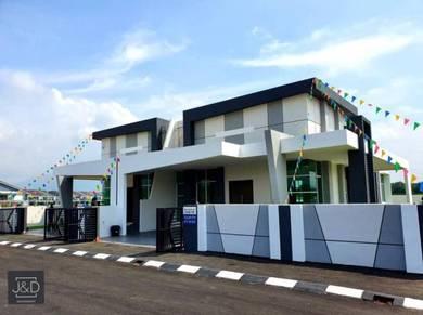 Rumah 1 Tingkat Semi-D Baru di Tasek ,Garden Residence