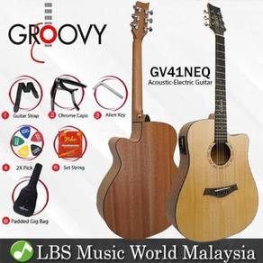 "Groovy GV41NEQ 41"" Acoustic Electric Guitar"