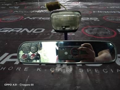 Centermirror Cermin Tengah Mira L5 Hitam Kancil
