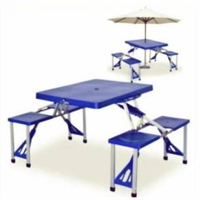 Meja piknik siap kerusi (boleh lipat)