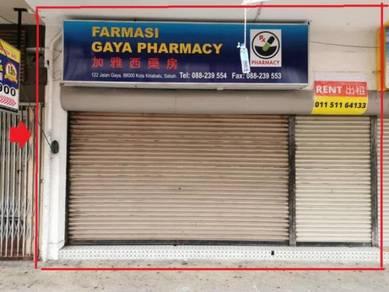 Gaya Street, Ground Floor, Good Location, KK