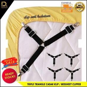 Triple triangle cadar klip/bedsheet clipper/bed sh