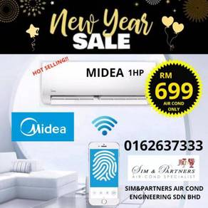 Putrajaya /aircond air cond midea 1hp promo 699