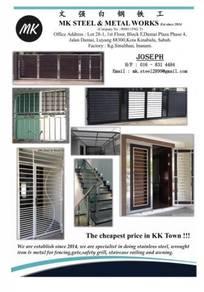 Stainless steel gate, grill, door