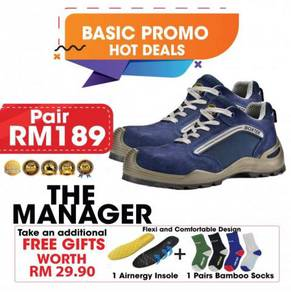 Sporty the manager safety shoes with steel