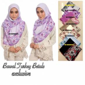 Tudung Bawal Turkey Betals Exclusive bdg 45 cantik