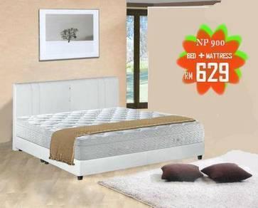 Queen Divan + mattress (M-58560 W ) 12/01