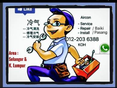 Servis Baiki Aircond PRO Repair Service air cond
