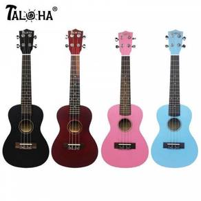 Taloha Concert Ukulele-[Black/Blue/Maroon/Pink]```