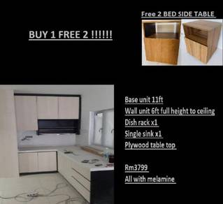 Buy 1 Free 2 kitchen cabinet 11ft melamine