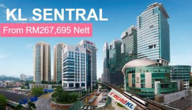 Nearly 14% Rebate & Fully Furnished KL Sentral SOHO Suites